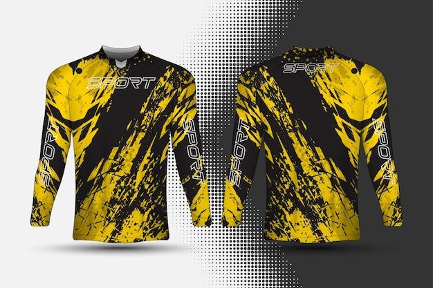 Sportbekleidungs-jersey-vorlage mit abstraktem hintergrunddesign