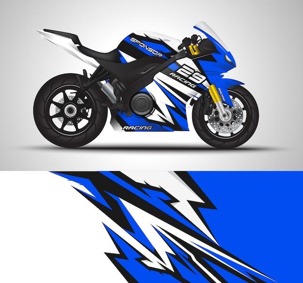 Sportbike motorrad motorsport und vinyl aufkleber design