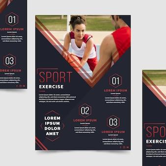 Sportbroschüre mit foto