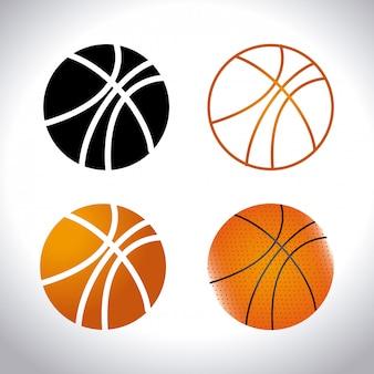 Sportdesign über weißem hintergrund