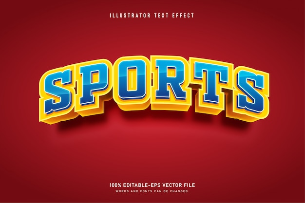 Sporteffekt der sportillustration