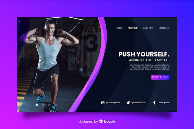 Sporthalle landing page