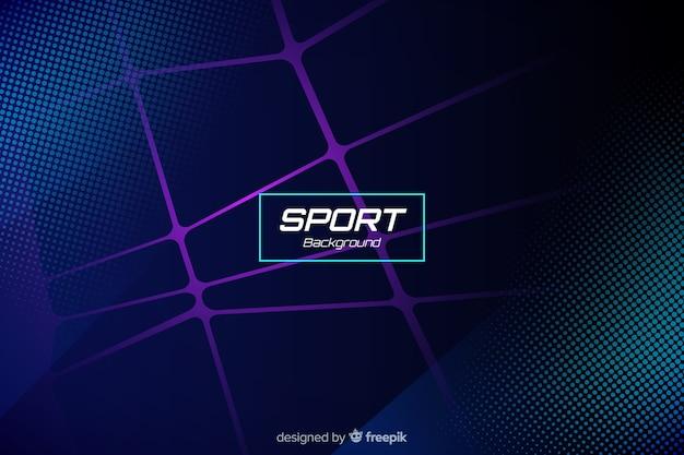 Sporthintergrund mit abstrakten formen