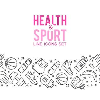 Sportikonen. sportkonzept, hintergrund. icons sportspiele