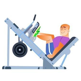 Sporting, ein glatzköpfiger mann, war im fitnessstudio