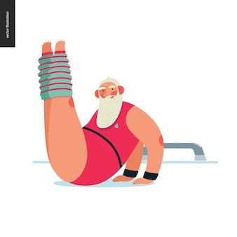 Sporting santa - aerobic