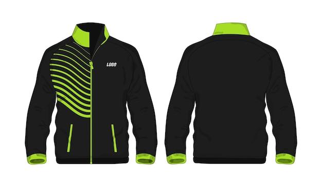 Sportjacke grün und schwarz vorlage für design auf weißem hintergrund. vektorillustration eps 10.