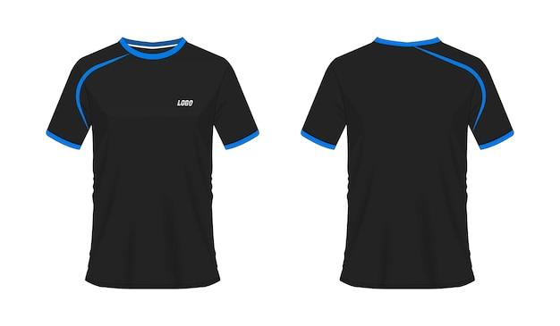 Sportjacke rotes und schwarzes vorlagenhemd für design auf weißem hintergrund. vektor-illustration.