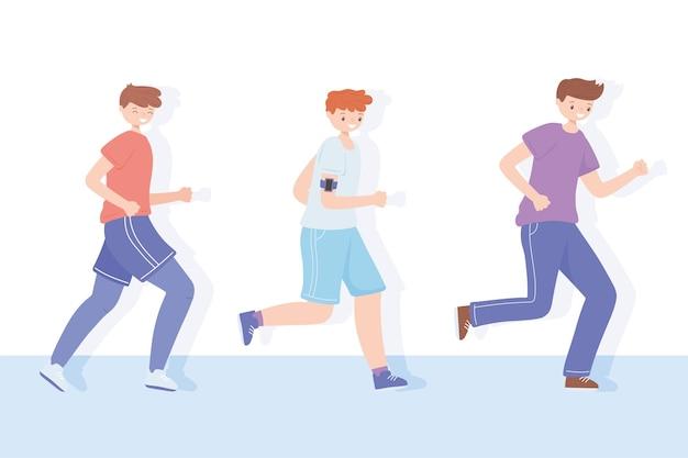 Sportliche aktivität für jungen