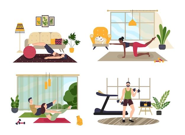 Sportliche aktivitäten für männliche und weibliche charaktere