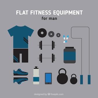 Sportliche ausrüstung für mann