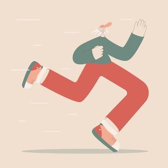 Sportliche charaktere für das training von cardio-training