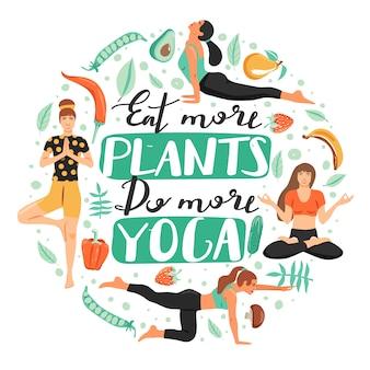 Sportliche frauen, die yoga üben.