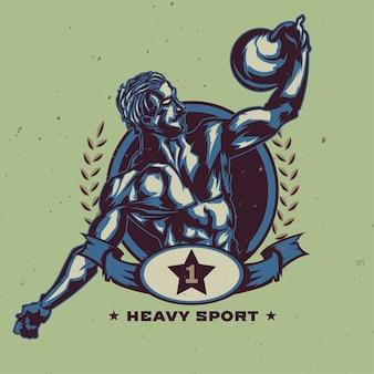 Sportliche mannillustration