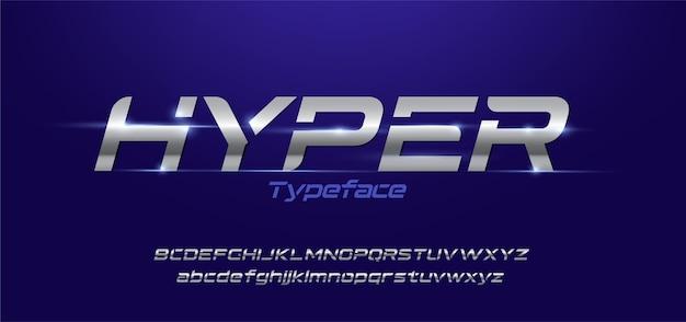 Sportliche moderne typografie-alphabet-schriftarten eingestellt