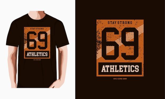 Sportlicher 69-text für print-t-shirt
