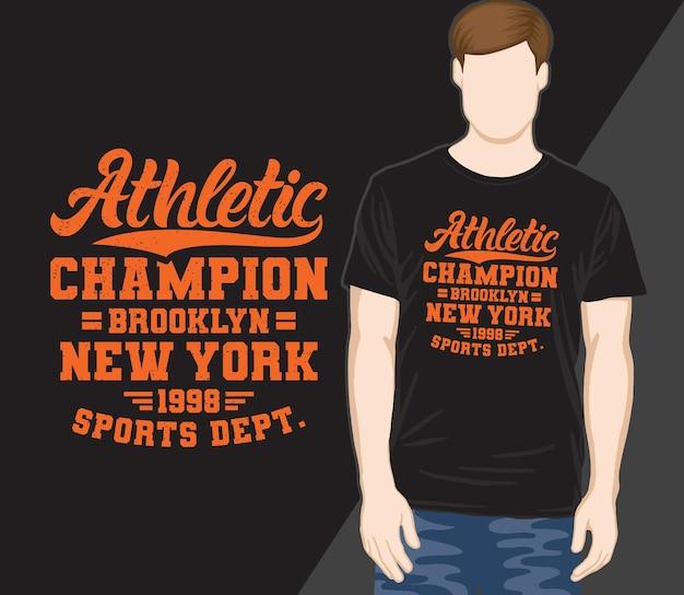 Sportlicher champion typografie t-shirt design