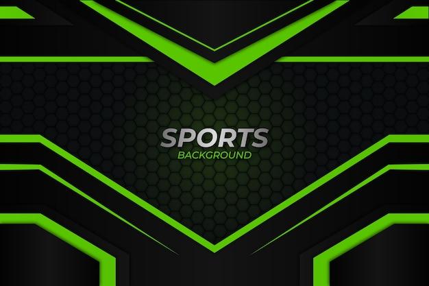 Sportlicher hintergrund dunkler und grüner stil