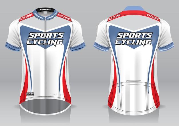 Sportliches design der vorderrad- und rückansicht des jersey-fahrrads