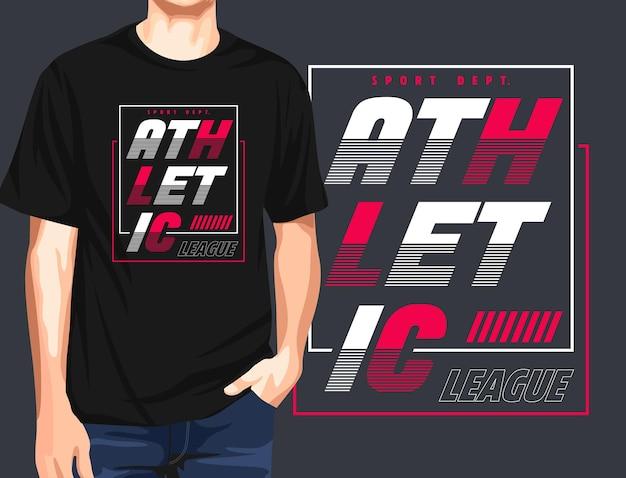 Sportliches grafik-t-shirt