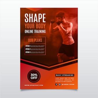 Sportplakatdesign mit foto