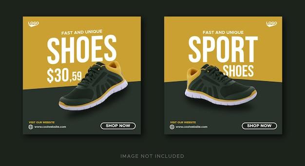 Sportschuhe verkauf social media post banner vorlage