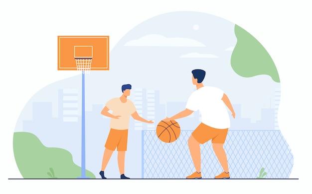 Sportspiele im freien konzept