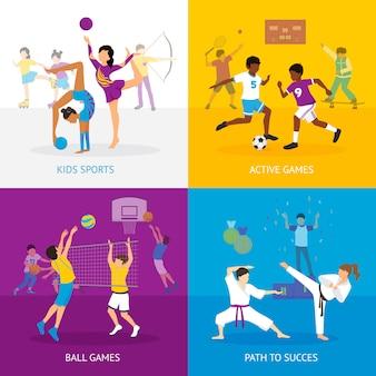 Sportspiele-konzept