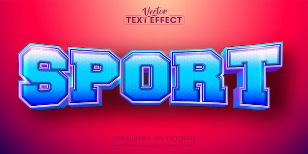 Sporttext, bearbeitbarer texteffekt im sportstil
