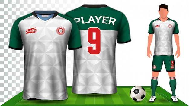 Sporttrikot oder fußballtrikot uniform.