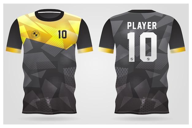 Sporttrikotschablone für mannschaftsuniformen und fußball-t-shirt design
