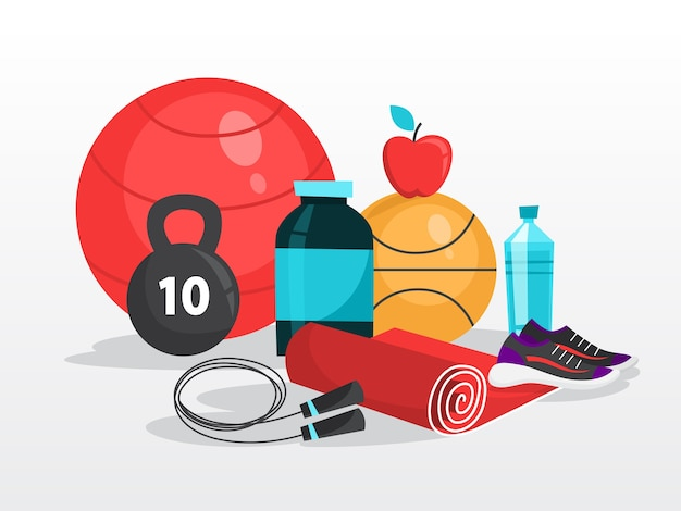 Sportübung. zeit für fitness und training