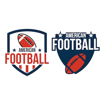Sportvektor-grafikdesigninspiration des amerikanischen fußballs