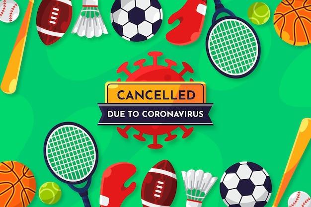 Sportveranstaltungen aufgrund des coronavirus-hintergrunds abgesagt