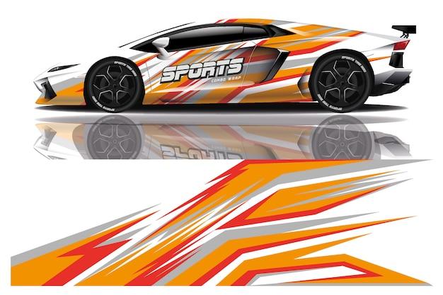 Sportwagen-aufkleber wickeln illustration