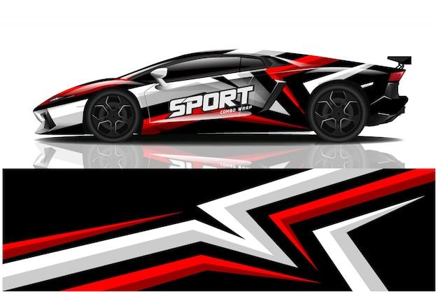 Sportwagen aufkleber wrap, autolackierung