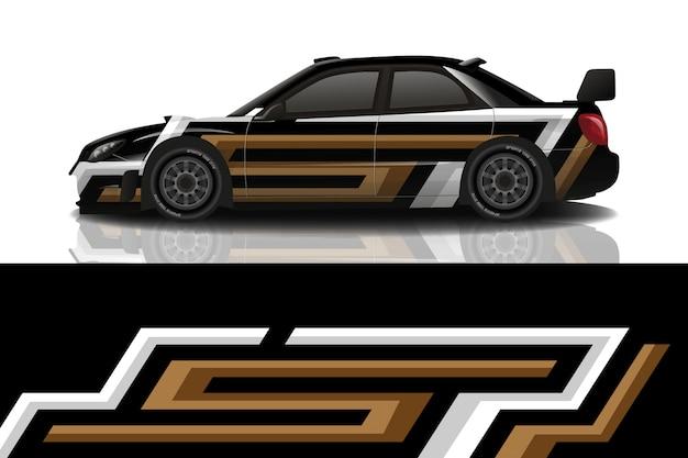 Sportwagen aufkleber wrap design vektor