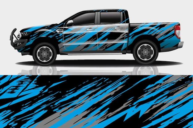 Sportwagen-aufkleber-wrap-design-vektor