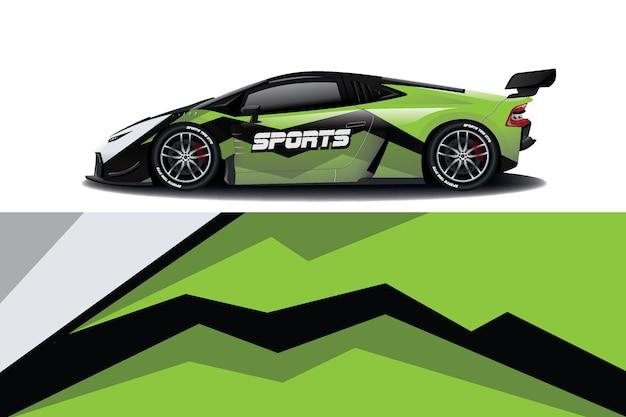 Sportwagen aufkleber wrap design