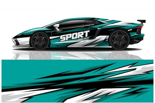 Sportwagen aufkleber wrap illustration