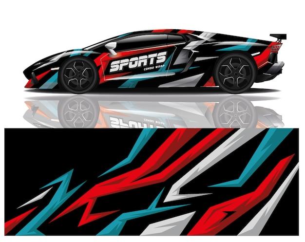 Sportwagen aufkleber wrap vorlage