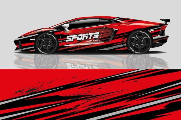 Sportwagen aufkleber wrap