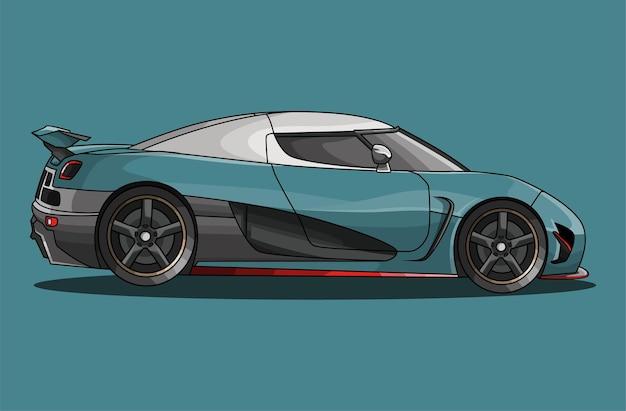 Sportwagen-cartoon-illustration