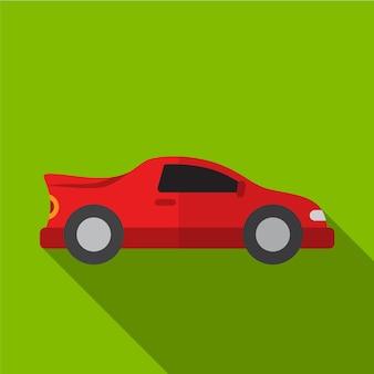Sportwagen-flache ikonenillustration lokalisiertes vektorzeichensymbol
