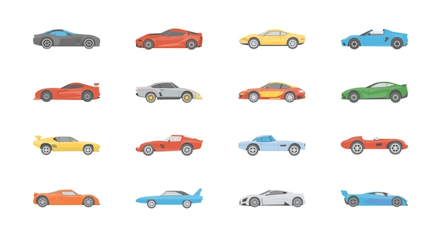 Sportwagen flat icons