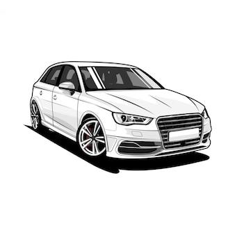 Sportwagen-illustration