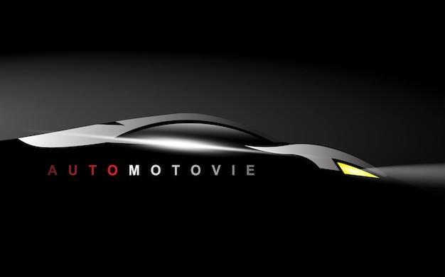 Sportwagen-silhouette-vektor-logo-vorlage