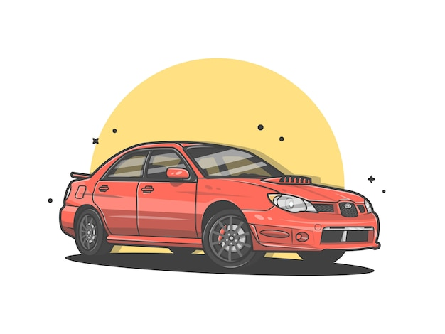 Sportwagen-vektor-ikonen-illustration