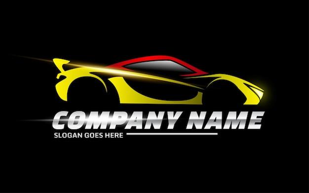 Sportwagen-vektor-logo-vorlage