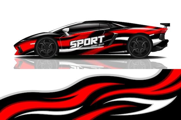 Sportwagen wrap aufkleber design
